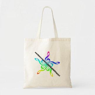 Flute Music Tote Bag