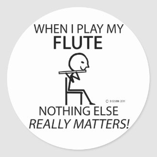 Flute Nothing Else Matters Round Sticker