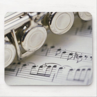 Flute on Sheet Music Mouse Pad