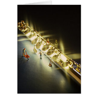 Flute or Flutist Greeting card or Note Card