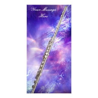 Flute or Flutist Musician Photo Card