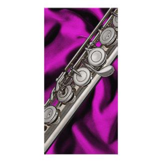 Flute or Flutist Musician Photo Card