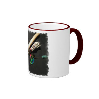 Flute, Peace and Sage Ringer Mug