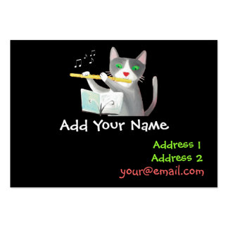flute player business cards