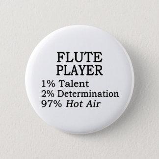 Flute Player Hot Air 6 Cm Round Badge