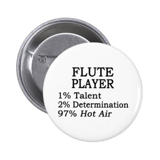 Flute Player Hot Air 6 Cm Round Badge