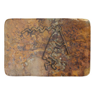 Flute Player Petroglyph Bath Mat