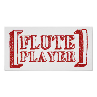 Flute Player Poster
