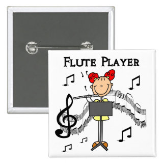 Flute Player T-shirts and Gifts 15 Cm Square Badge