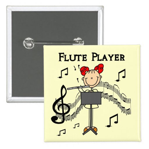 Flute Player T-shirts and Gifts Pin