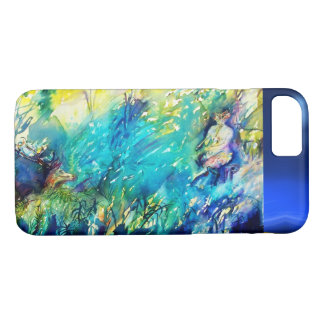 FLUTE PLAYING PAN AND DEER IN GREEN FOREST iPhone 8/7 CASE