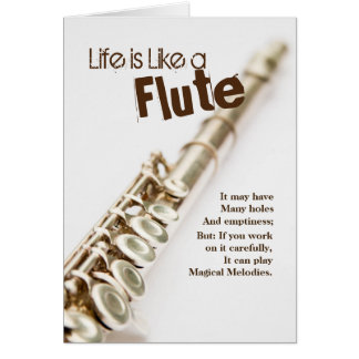 Flute Quote Greeting Card