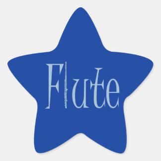 Flute Star Sticker