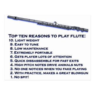 Flute Top 10 Postcard
