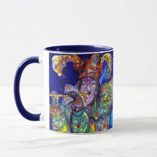 FLUTIST IN BLUE / Venetian Carnival Night Mug