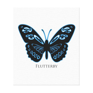 Flutter Blue Glow Canvas Print