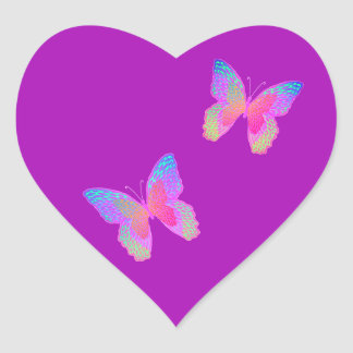 Flutter-bye heart sticker