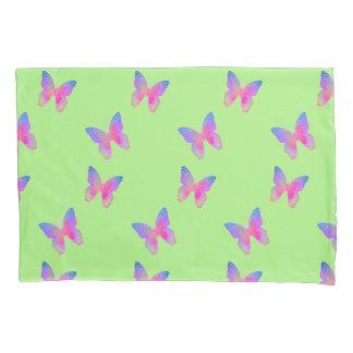 Flutter-Byes (green) pillow case