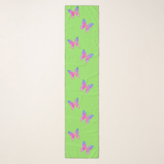 Flutter-Byes (spring-green) chiffon scarf
