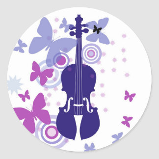 Flutter Fiddle Violin Stickers