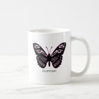 Flutter Pink Glow White Mug