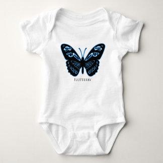 Flutterby Black Blue Glow Baby Bodysuit