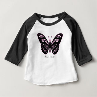 Flutterby Black Pink Glow Baby T-Shirt