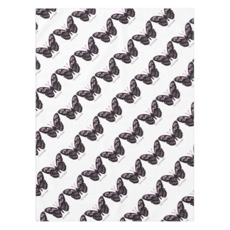 Flutterby Black Pink Glow Tablecloth