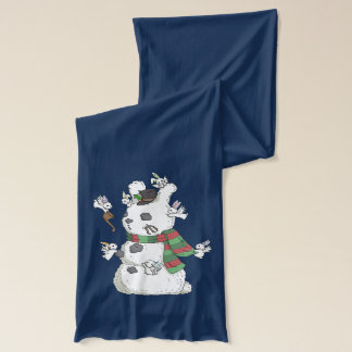 Flutterby bunnies in the snow - Winter Scarf