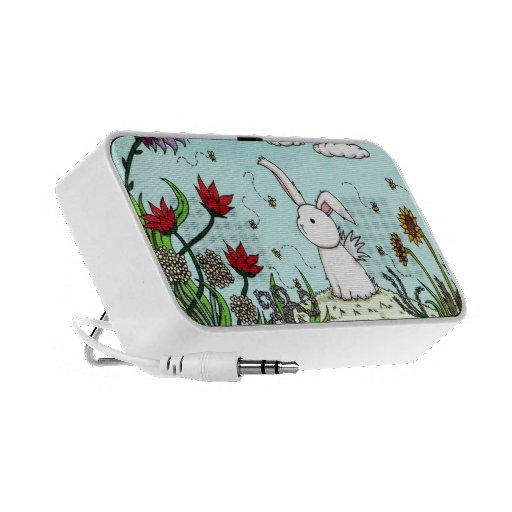 Flutterby Bunny Garden iphone Speakers