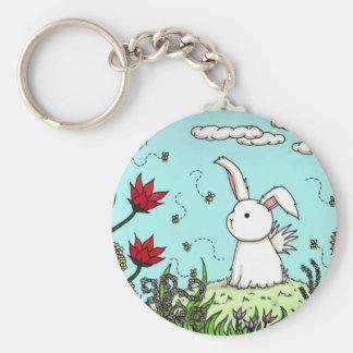 Flutterby Bunny Garden Keychain