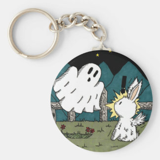 Flutterby Bunny Ghost Keychain
