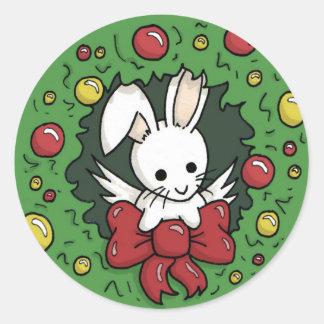 Flutterby bunny wreath - Stickers