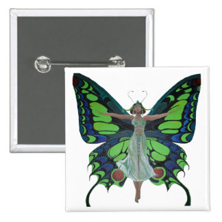 Flutterby Fairy 15 Cm Square Badge