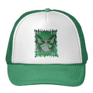 Flutterby Fairy with Leaves Mesh Hats