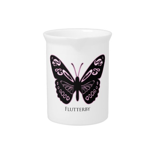 Flutterby Pink Glow Pitcher