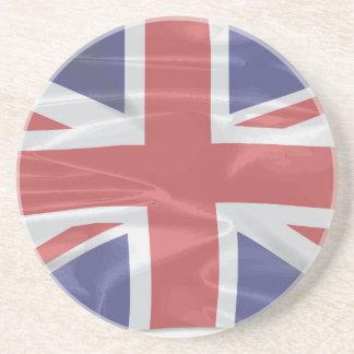 Fluttering Silk Union Jack Coaster