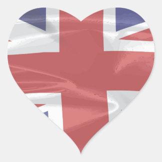 Fluttering Silk Union Jack Heart Sticker