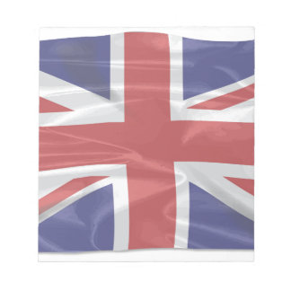 Fluttering Silk Union Jack Notepad
