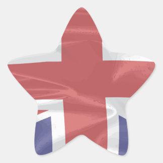 Fluttering Silk Union Jack Star Sticker