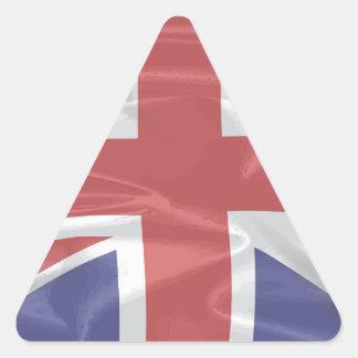 Fluttering Silk Union Jack Triangle Sticker