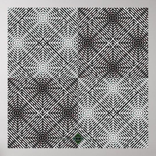 Flux Perspective Grid Poster