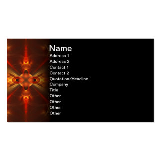 Fluxicon Abstract Fractal Art Business Card