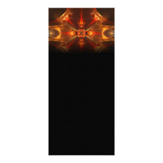 Fluxicon Abstract Fractal Art Personalized Rack Card