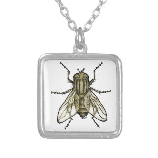 Fly 1a silver plated necklace