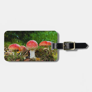 Fly agaric luggage tag