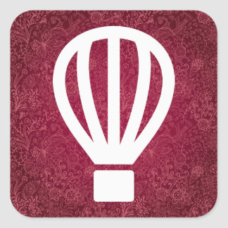 Fly Airballoons Minimal Square Sticker