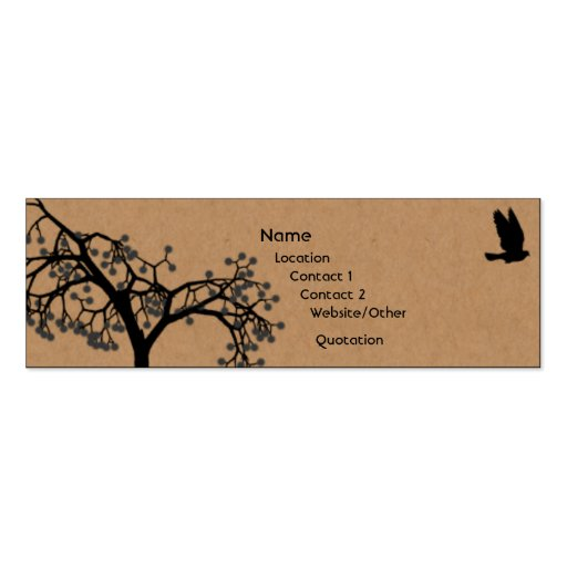 Fly Away Business Card Template