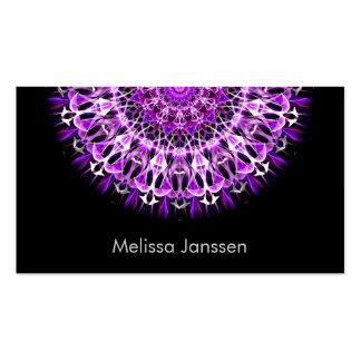 Fly Away Purple -Mandala- Pack Of Standard Business Cards
