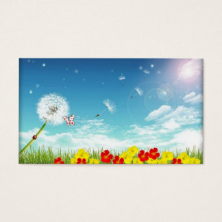 fly away spring pic business card